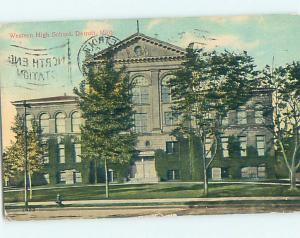 Divided-Back HIGH SCHOOL Detroit Michigan MI k0621