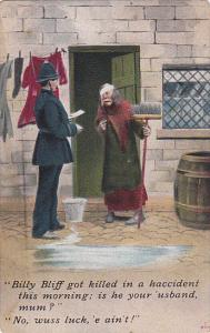 Bamforth Series No 1229 Policeman Talking To Old Woman