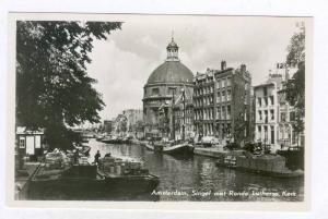 RP; Amsterdam, Singel met Ronde Lutherse Kerk, North Holland, Netherlands, 10...