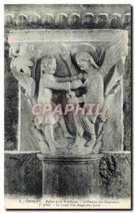Old Postcard Vezelay Church of the Madeleine Collection Capitals Pillar Fight...
