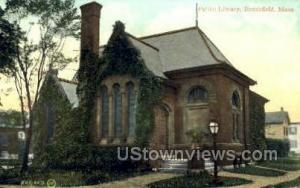 Public Library Brookfield MA postal used unknown
