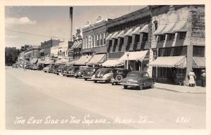 Albia Iowa~East Side Square~Briardale Food Store~Zenith~Wilson~1940s Cars RPPC