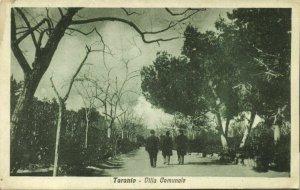 italy, TARANTO, Villa Comunale (1920s) Postcard