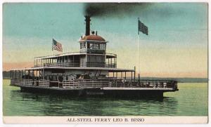 Auto-Ferry, Leo B Bisso on Mississippi River