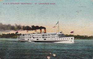 Oceanliner/Steamer/Ship, R. & O. Steamer Montreal, St. Lawrence River, PU-1912