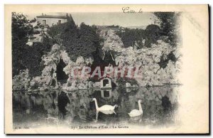 Old Postcard Cave Caves The Chateau d & # 39eau This Swans