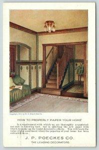 Lemars Iowa~JP Poekes Company~Decorators~How to Properly Wallpaper Home~1911 Adv
