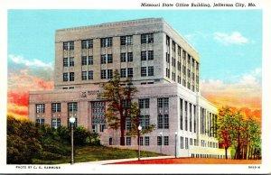 Missouri Jefferson City Missouri State Office Building Curteich