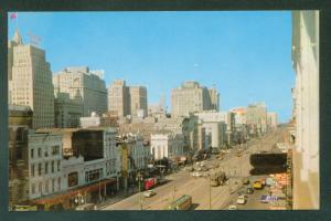 NEW ORLEANS SKYLINE Canal Street 1950s City Scene Louisiana Vintage Postcard