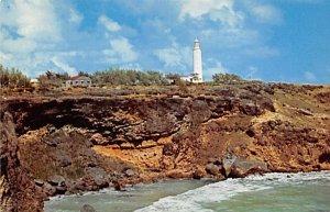 Barbados West Indies Post card Old Vintage Antique Postcard Regged Point Ligh...