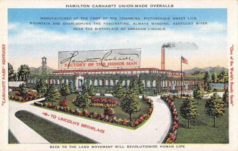 Carhartt Park Kentucky Hamilton Carhartt Union Made Overalls Factory PC AA39536