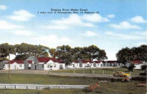 Pascagoula Mississippi Singing River Motor Court Vintage Postcard K55258