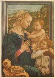 Cartolina edizione a beneficio di casa Mamma Domenica Adorazione Filippo Pippi