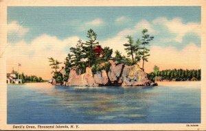 New York Thousand Islands Devil's Oven Curteich
