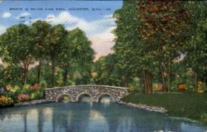 Bridge in Silver Lake Park Rochester MN 1949