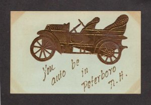 NH You Auto be in Peterboro New Hampshire Postcard Car Automobile