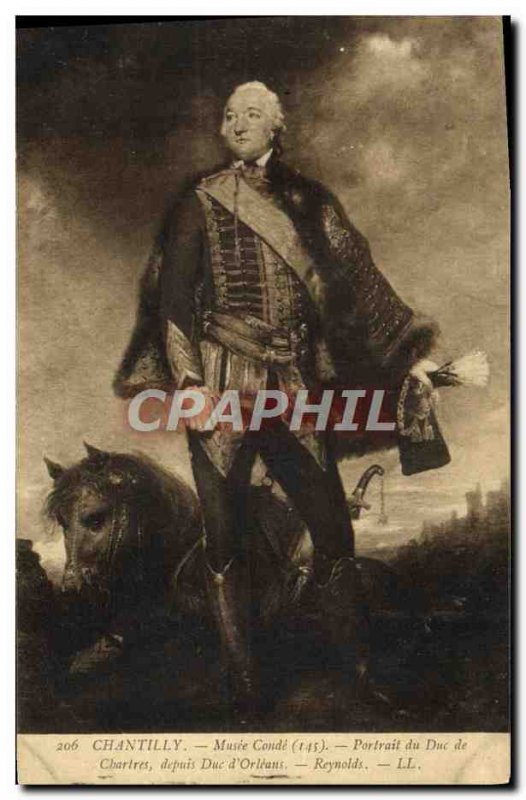 Old Postcard Chantilly Musee Conde Portrait of the Duke of Chartres from Duke...