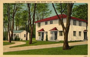 PA - Harrisburg. Island Park Restaurant & Motor Court