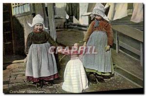 Postcard Old Volendam costume Children Folklore