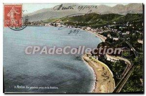 Old Postcard Menton Vue Generale Jack De La Frontiere