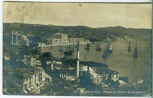 RPPC, Constantinople. Palais du Sultan au Bosphore