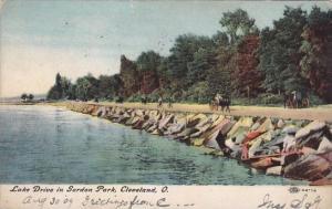Lake Drive In Gordon Park Cleveland Ohio 1909