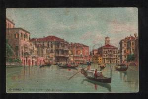 058482 ITALY Venezia Canal Grande Pal Browning by M lithograph