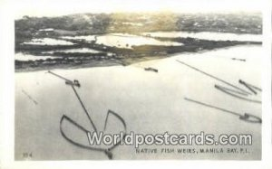 Native Fish Weirs Manila Bay Philippines Unused
