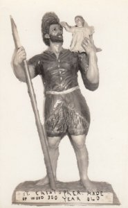 RP: St. Christopher , Wooden Statue , 1920-30s