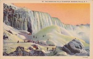 The American Falls In Winter Niagara Falls New Jersey
