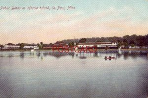 PUBLIC BATHS AT HARRIET ISLAND, ST. PAUL, MN.