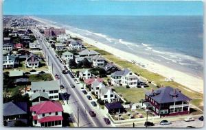 Virginia Beach, VA Postcard North from the top of New Mayflower Apartments 1950s