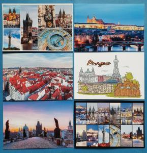 Quality Set of 6 Brand New Glossy Postcards, PRAGUE Czech Republic 62O