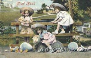 Sheep Children, Child, Unused crease right bottom corner, yellowing on back f...