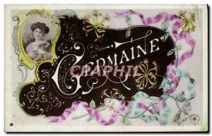 Old Postcard Fantaisie Germaine Surname