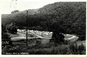 luxemburg, ESCH-SUR-SURE, Le Camping (1959) Postcard