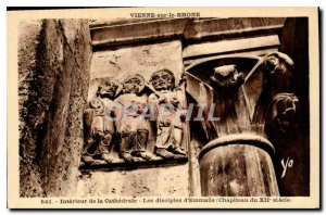 Postcard Old Intereur of the Cathedral disciples of Emmaus Capital of the XII...