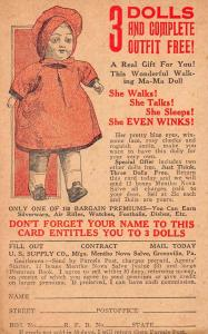Greenville Pennsylvania Doll Advertising Antique Postcard J45868