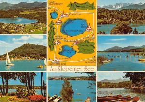 Am Klopeiner See, Turnersee Stadtplan Map Lake Boats General view