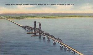 James River Bridge, Second longest Bridge in the World, Newport News, Virgini...