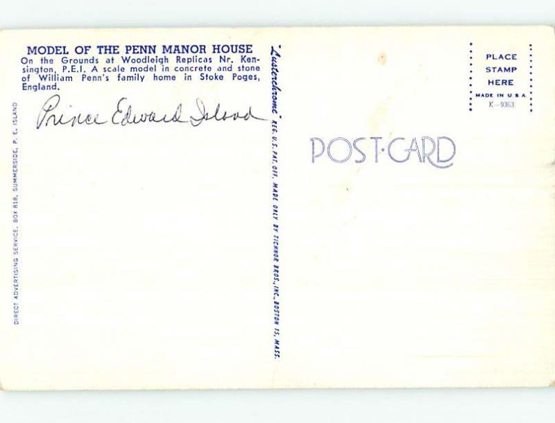 Unused Pre-1980 TOWN VIEW SCENE Kensington Prince Edward Island PE p8778