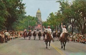 Cheyenne Frontier Days Parade, Miss Frontier and Lady in Waiting, CHEYENNE, W...