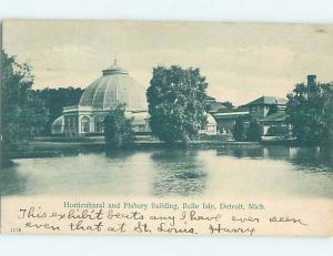 Pre-1907 BUILDING Belle Isle - Detroit Michigan MI A0574