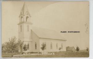 CLAYSVILLE, OHIO M.E. CHURCH-1911 RPPC REAL PHOTO POSTCARD