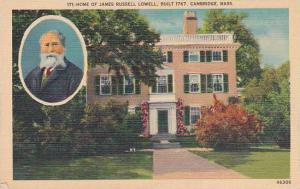 Massachusetts Cambridge Home Of James Russell Lowell Building 1767