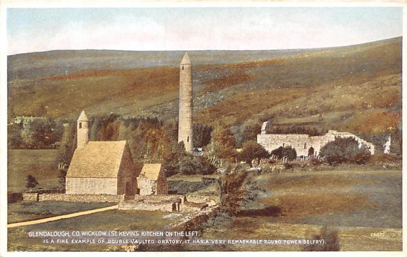 Ireland Co. Wicklow Glendalough (St. Kevin's Kitchen on the Left) Oratory