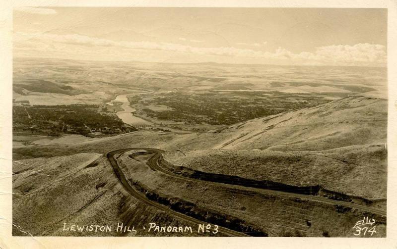 ID - Lewiston. Lewiston Hill Panorama  *RPPC