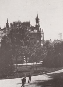 Van Leidsebosje Politie Brandweerpost Leidsekade Amsterdam in 1890 Postcard
