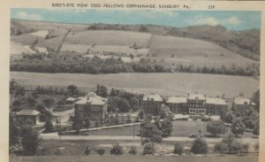 SUNBURY, Pennsylvania, 1910-20s; Bird's Eye View Odd Fellows Orphanage
