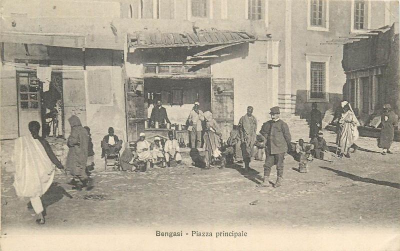 Benghazi Libya Italian Colony colonia italiana Piazza principale store magasin